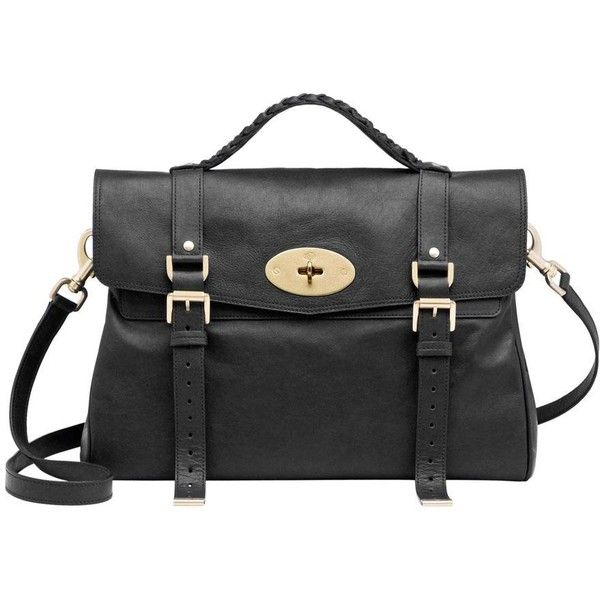 MULBERRY Oversized Alexa Soft Buffalo ($1,195) ❤ liked on Polyvore featuring bags, accessories, purses, handbags, bolsas, oversized bags, messenger bags, woven bag, mulberry bag and tan messenger bag