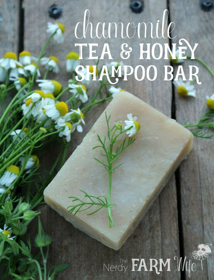 This shampoo bar recipe combines the simple goodness of chamomile tea with nourishing honey to create a wonderful lathering experience for your hair. While I made the batch shown using the hot process