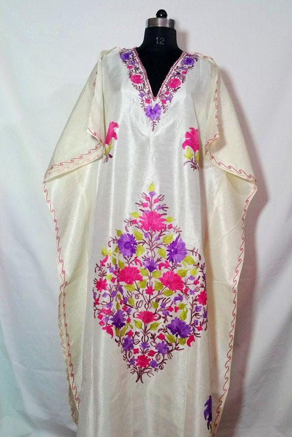 Kaftan kashmiri embroidery Evening gown FREE SHIPPING