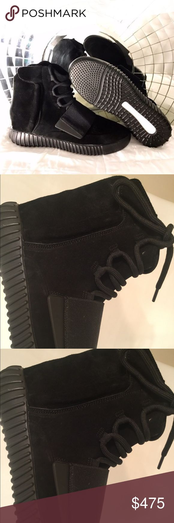 Yeezy 750 Triple Black Boost DEADSTOCK. Size 11.5-12. New never put on. VERY RARE. Price is high because they take a high percentage but let me know if you want to buy elsewhere for a better deal. Yeezy Shoes Sneakers