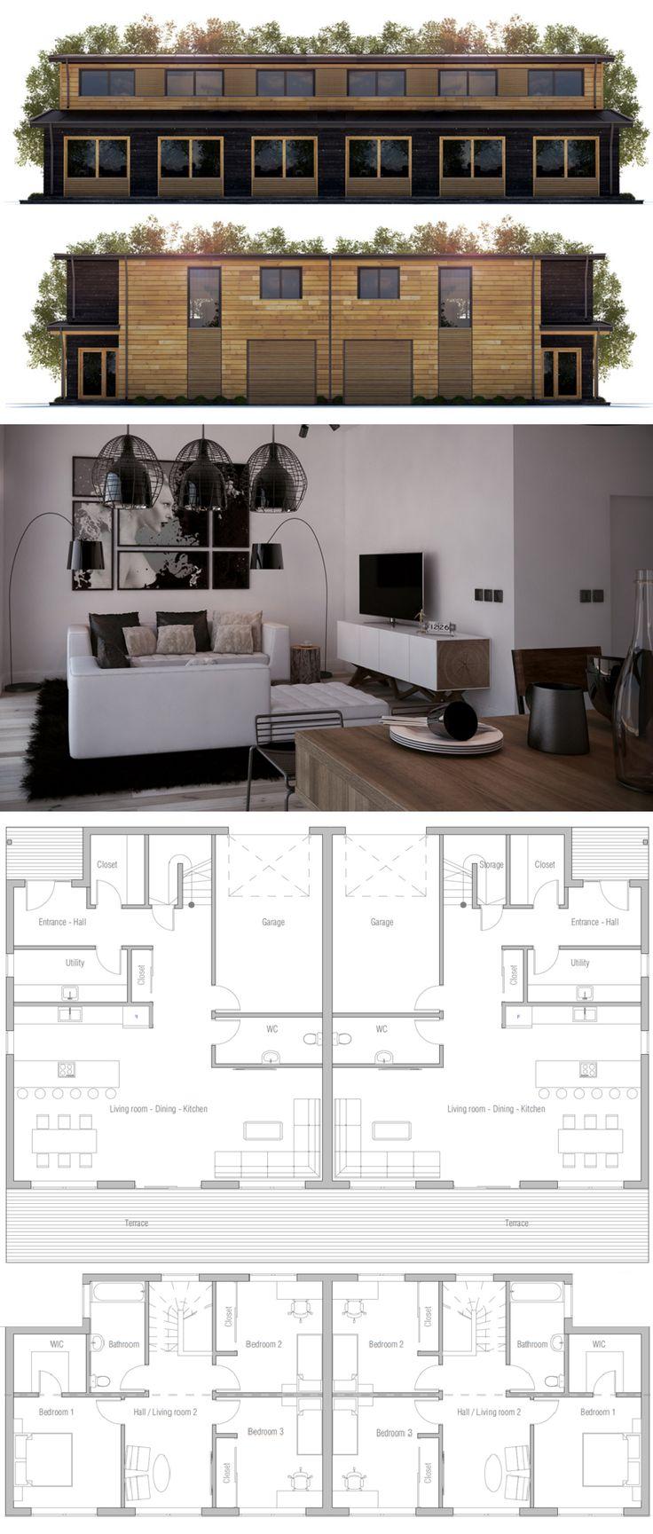 1000 ideas about duplex house on pinterest duplex plans for Up and down duplex plans
