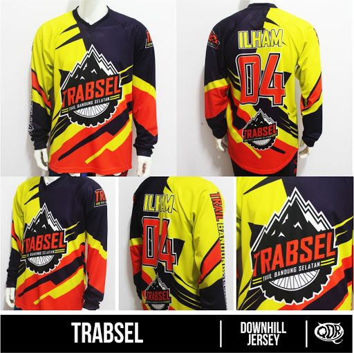 jersey Downhill Trabsell Sublimation Print   By Qita Design