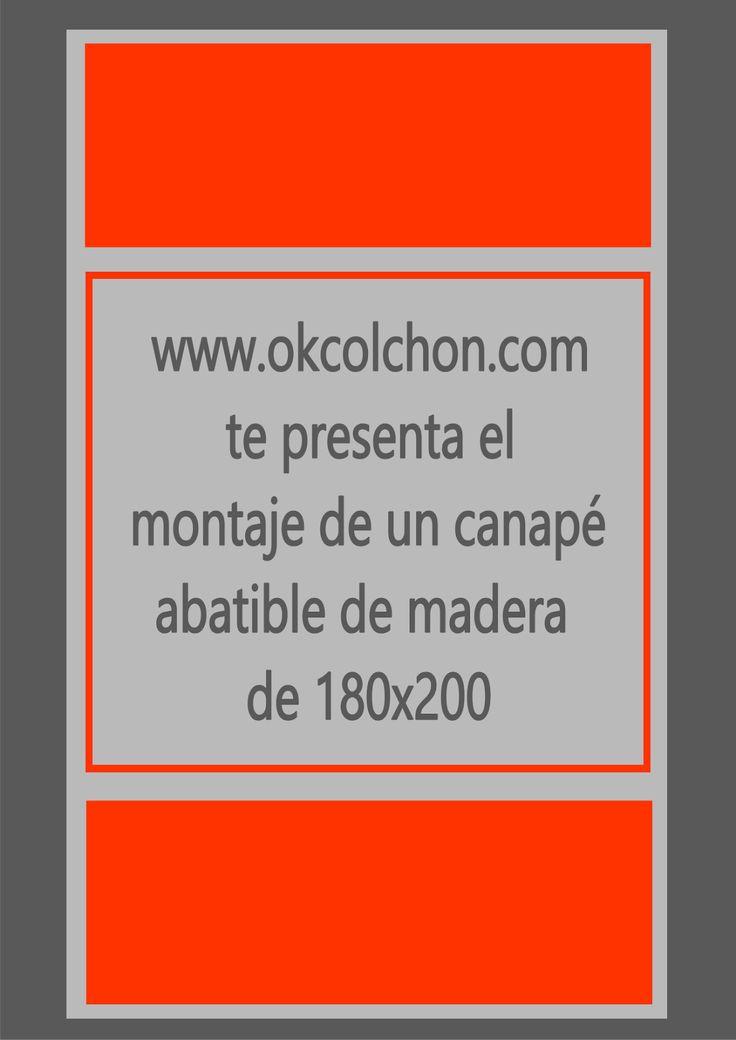 www.okcolchon.com: Cómo montamos un canapé abatible