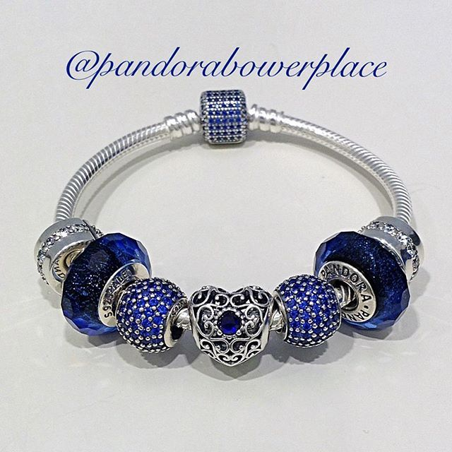 The September birthstone is the gorgeous Sapphire! #pandora #jewelry #bracelet #charms #sapphire #september #reddeer #potd #like4like #follow4follow