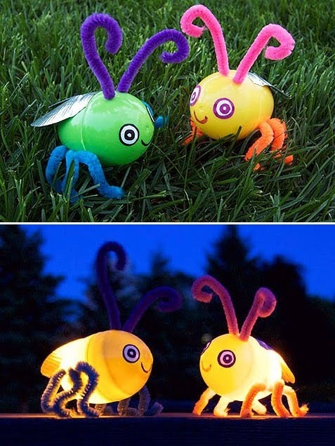 22 Fun, Easy (and Cheap!) Easter Crafts for Kids...soo cool glow bugs fun fun fun