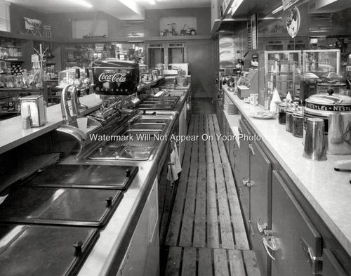Vintage Drug Store Counter Soda Fountain Coke Machine Nestles Malts Shakes Photo | eBay