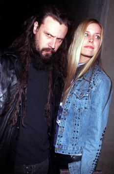 Singer Rob Zombie former member of the band White Zombie and his date arrive at the Las Palmas Club January 31 2001 in Hollywood CA