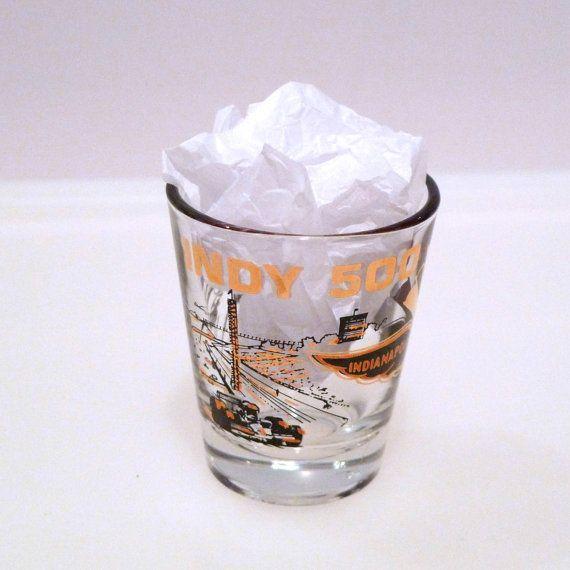 Indy 500 Shot Glass Vintage Indianapolis Motor Speedway