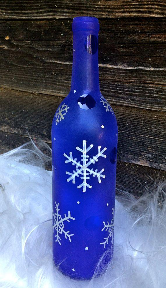 Snowflake Wine Bottle Décor / Cute & Classy by Hinzpirations, $15.00