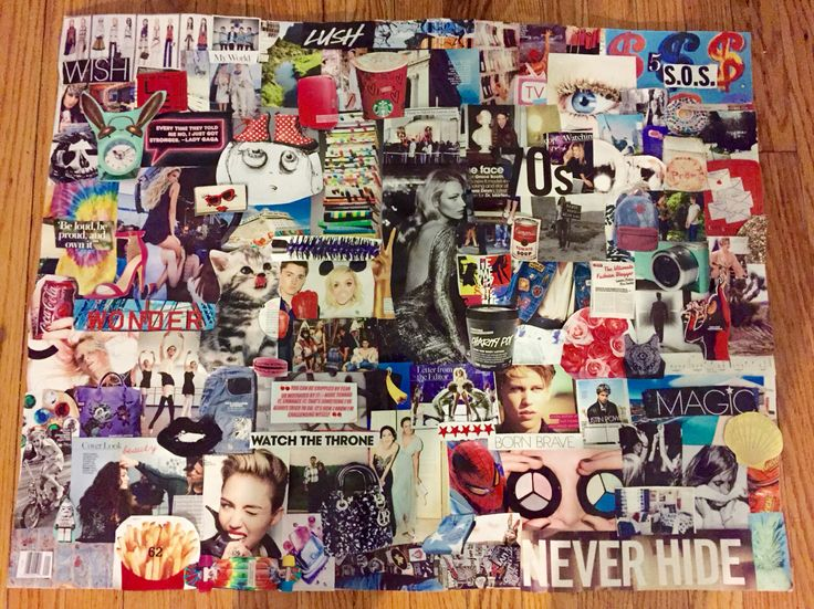 Pop culture collage/teen room decor/collages for sale ...