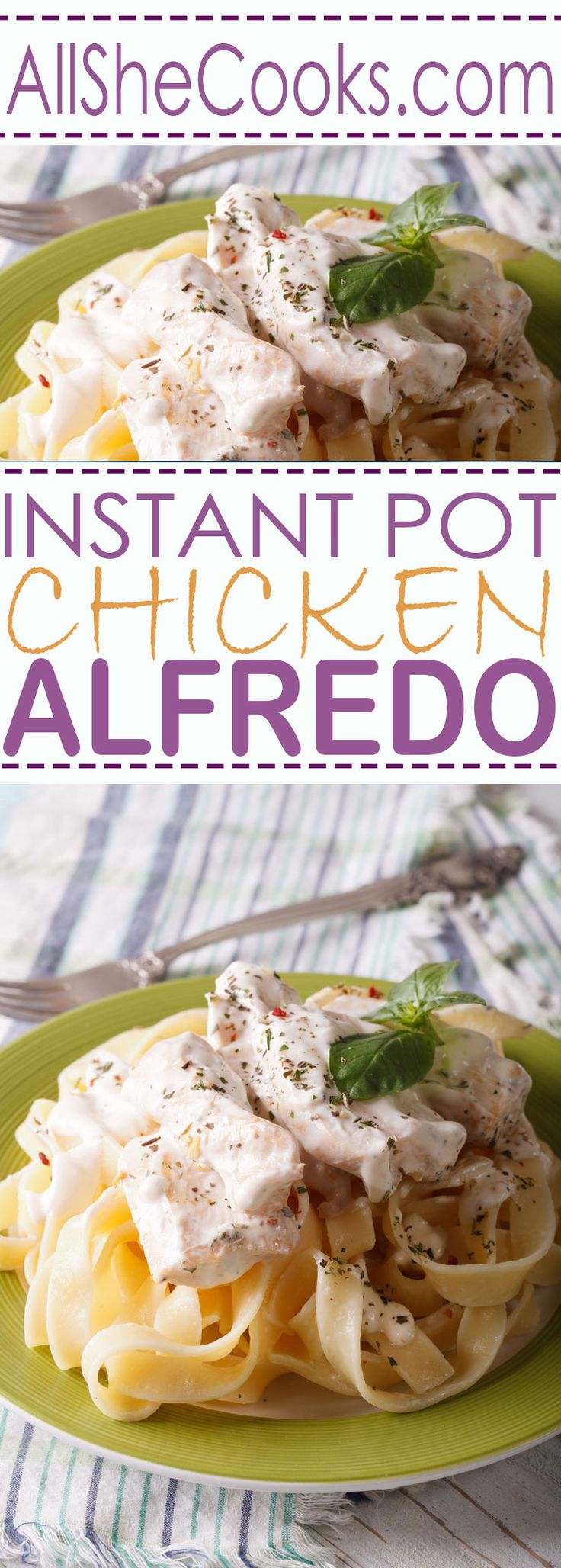 Easy Instant Pot Chicken Alfredo. This is an easy way to make chicken alfredo with delicious results.