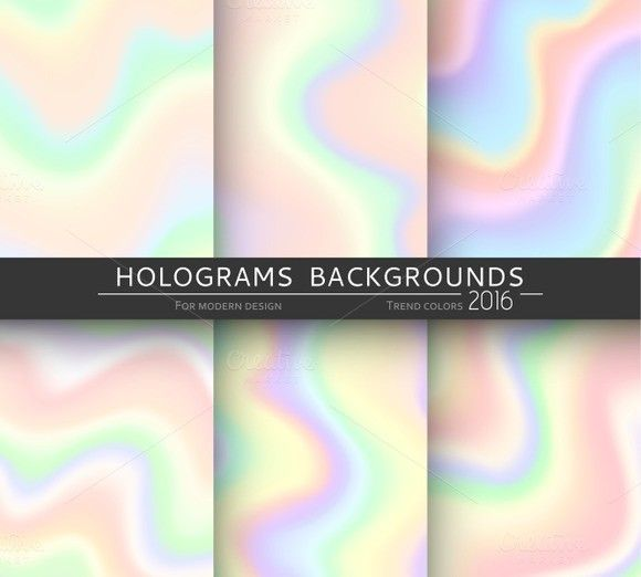 Set 6 holographic backgrounds. Holographic Backgrounds. $5.00