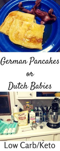 German Pancakes. This low carb version will absolutely knock your socks off! This is one of those rare instances where the low carb version actually tastes better than the original. At least, in my opinion it does! This recipe includes Almond Milk, Almond Flour, Eggs, and Sweet Leaf Stevia for a satisfying breakfast.
