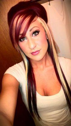 dark red and blonde hair color ideasPeekaboo Hair Colors on Pinterest mLksXGgF