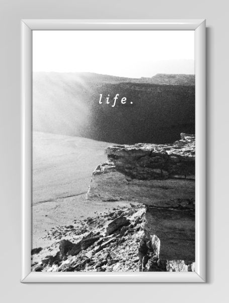 """Wanddeko - """"life."""" Kunstdruck / Fotografie / Poster - ein Designerstück von…"""