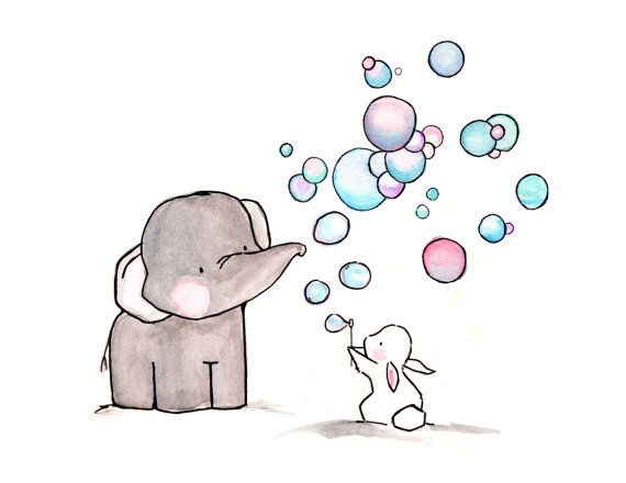 Bubbles 8x10 Archival Print by ohhellodear on Etsy