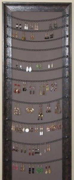This could go in a closet, too...  great idea of earrings  diy bathroom for you (10)