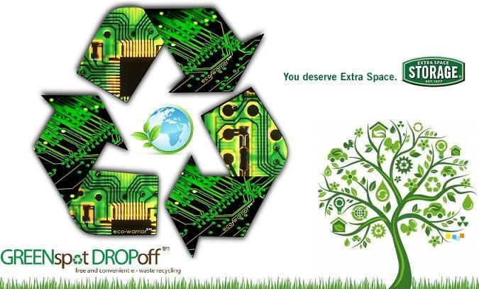 Recycle your E-Waste at Extra Space Storage facilities throughout California.