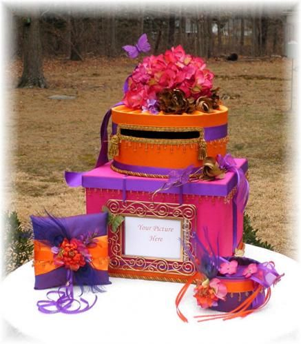 Indian wedding card box and accessories