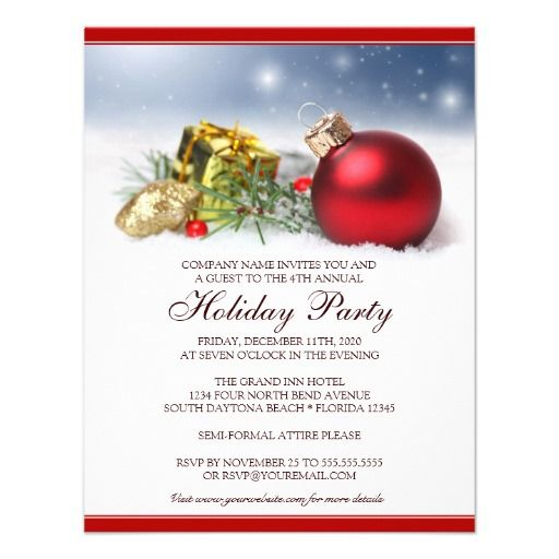 32 best corporate holiday party invitations images on pinterest shop festive christmas party invitation postcard created by personalize it with photos text or purchase as is stopboris Image collections