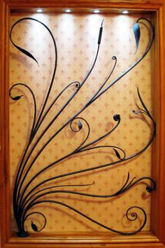 contemporary wrought iron screen