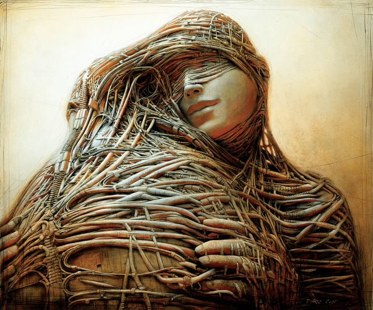 """""""Attachment"""", painting by Peter Gric. Visit Art Galaxie to see more of his work:"""