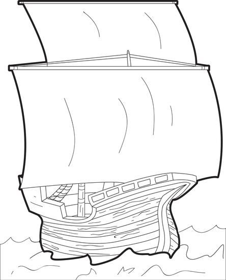 The Mayflower FREE Printable Coloring Page For Kids