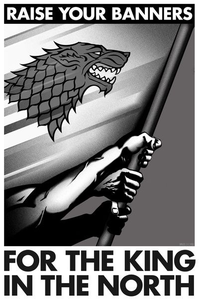 Game of Thrones posters inspired by the propaganda posters of World War II. They were created by Olivia Desianti