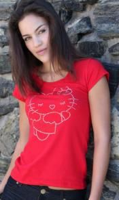 Red HELLO KITTY Tee