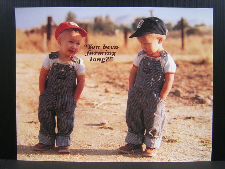 You Been Farming Long? Little Farmer Boys Twins Poster | Farmers ...