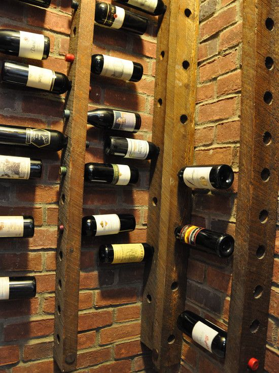Wine Cellar ~ this would be great to do with exposed studs in a basement