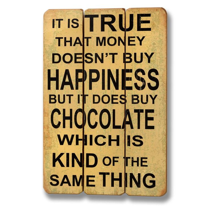 Chocolate is happiness