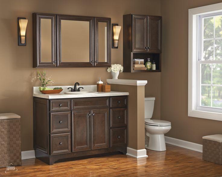 Haas Cabinet, Door Style: Lexington V Shown In Java Finish