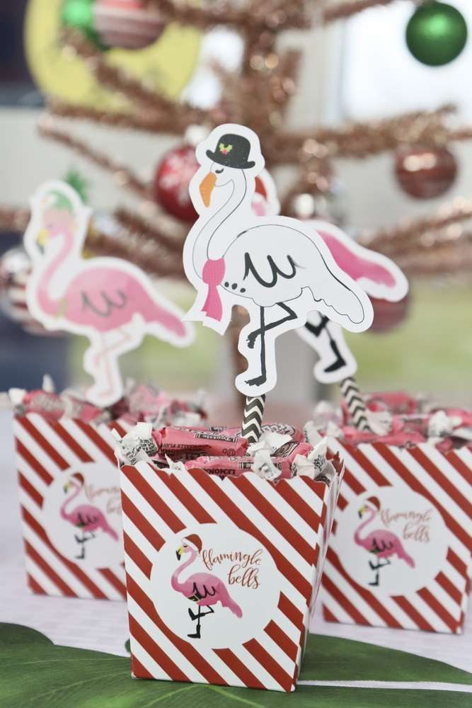 Tropical Christmas Party Ideas.Check Out This Awesome Flamingle Bells Tropical Christmas Christmas