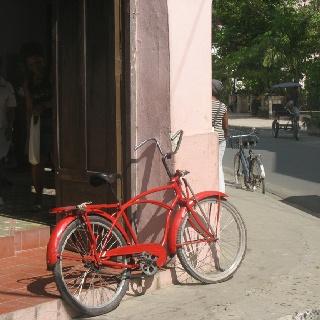 Colorful bike carmeguey Cuba