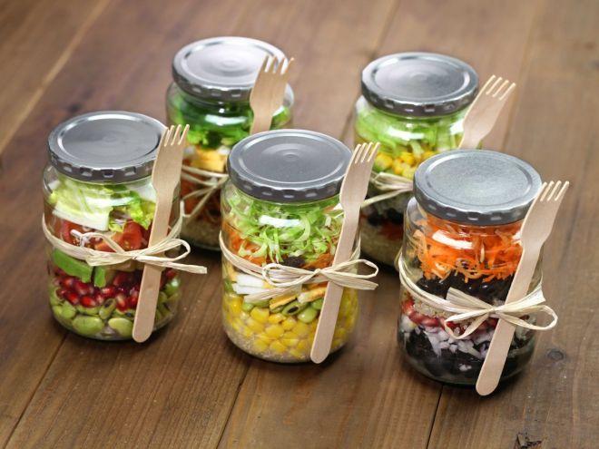 10 ricette di insalata in vaso