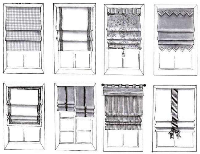 Римские шторы: типы и особенности применения, фото примеры