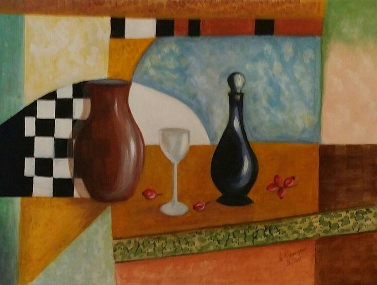 193_Stillleben, Acryl,           80 x 60 cm