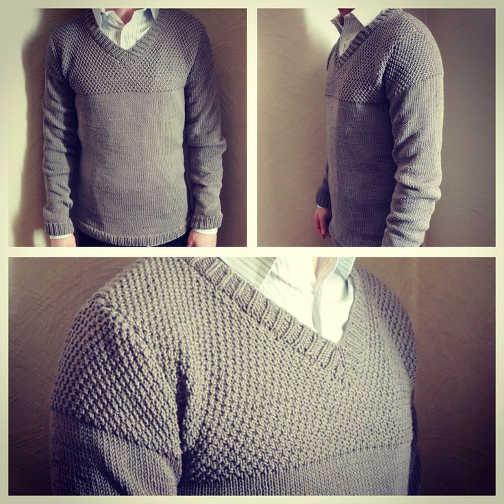 Knitted sweater in cotton. Office wear for my husband.