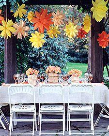 Paper Bag FlowersPaper Bags, Paper Flowers, Hanging Paper, Martha Stewart, Parties Ideas, Flower Tutorial, Flower Decor, Hanging Flower, Parties Decor