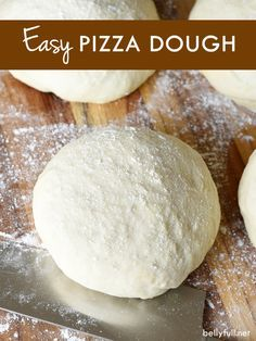 No electric mixer or fancy dough hook needed here! Mix everything in one bowl, let rise for an hour, knead 1-2 times, and that's it! Makes 1 large pizza, cut in half for 2 medium pizzas, or quarter it for individual pizzas.