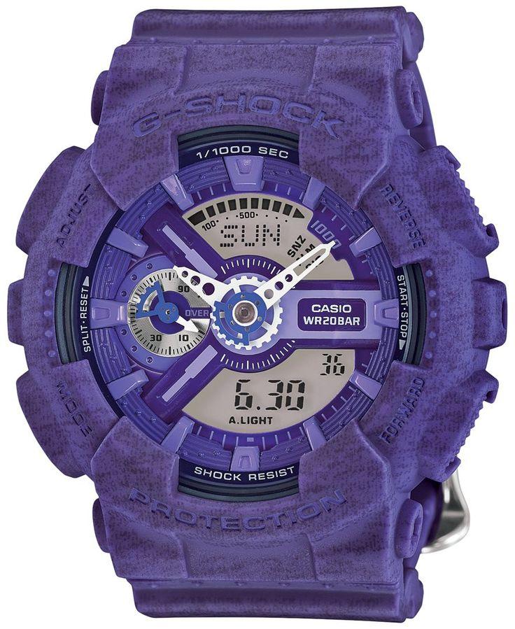 G-Shock Women's Analog-Digital Heather Purple Bracelet Watch 49x46mm GMAS110HT-6A