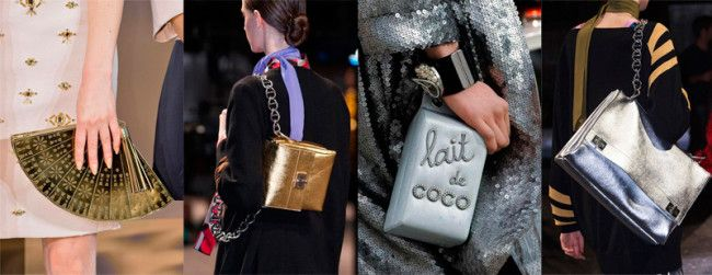 Fashion Handbags Fall-Winter 2014-2015: Gold & Silver