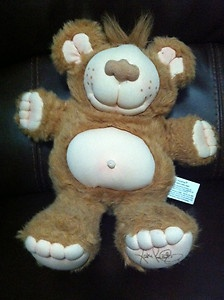 1980's FURSKINS Plush Toy Cabbage Patch Friend by Xavier Roberts