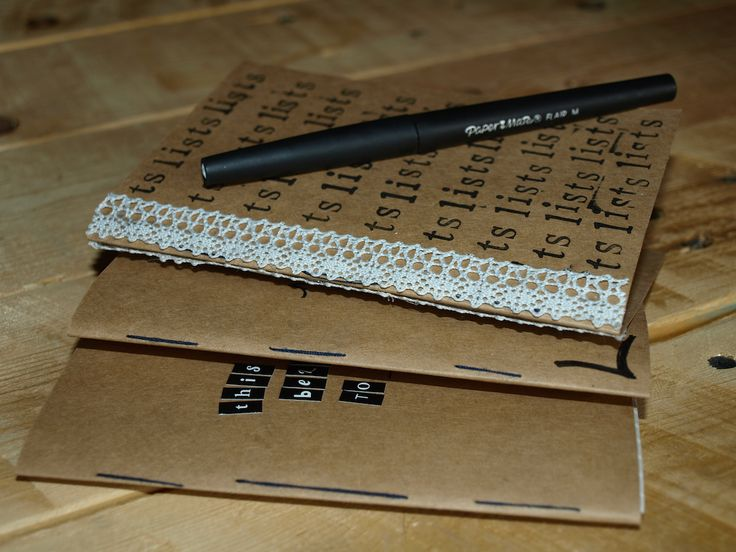 do it yourself notebooks from recyclable paper