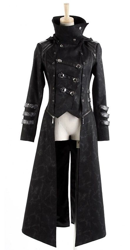 "Long Manteau Veste Gothique Visual Mixte - how many more words for ""Long black coat"" do you need?"