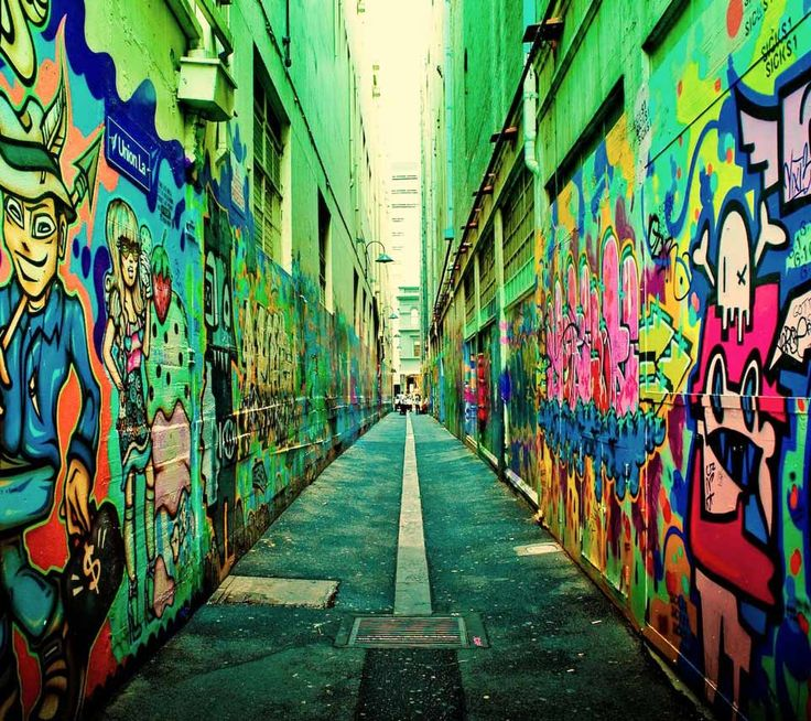 Colorful alley