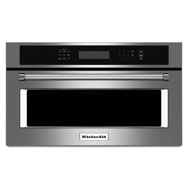 KitchenAid 1.4-cu ft Built-In Convection Microwave with Sensor Cooking Controls (Stainless Steel)