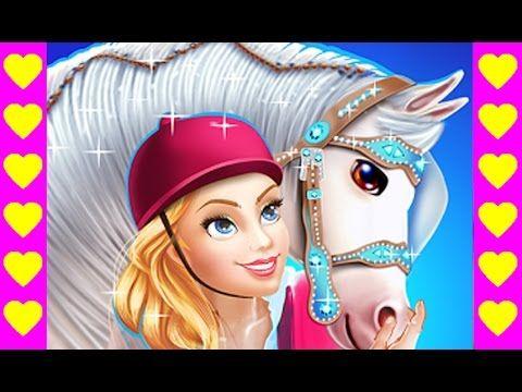 Уход за лошадью принцессы. Мультфильм про лошадку. Мультики про принцесс...