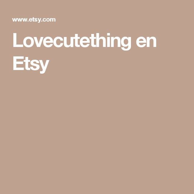 Lovecutething en Etsy